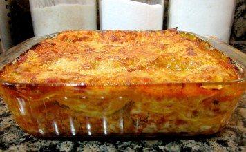Gluten free beef and mushroom lasagne