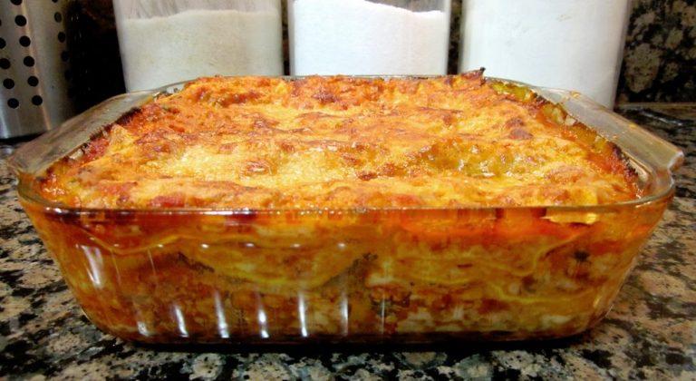 Gluten Free Beef and Mushroom Lasagna