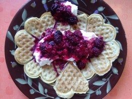 Waffles and berries