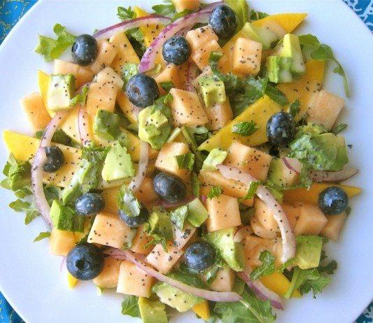 Tropical Fruit Salad with Orange Poppyseed Dressing