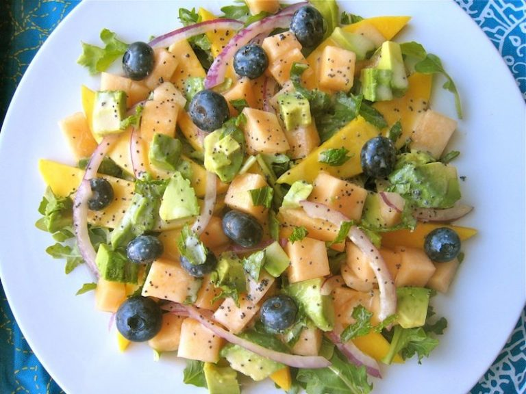 Tropical Fruit Salad with Orange Poppyseed Dressing
