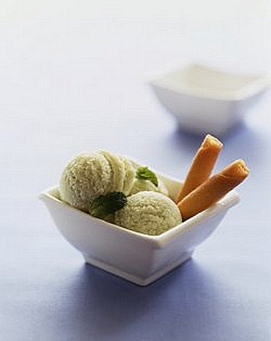 Lime and Spring Herb Sorbet
