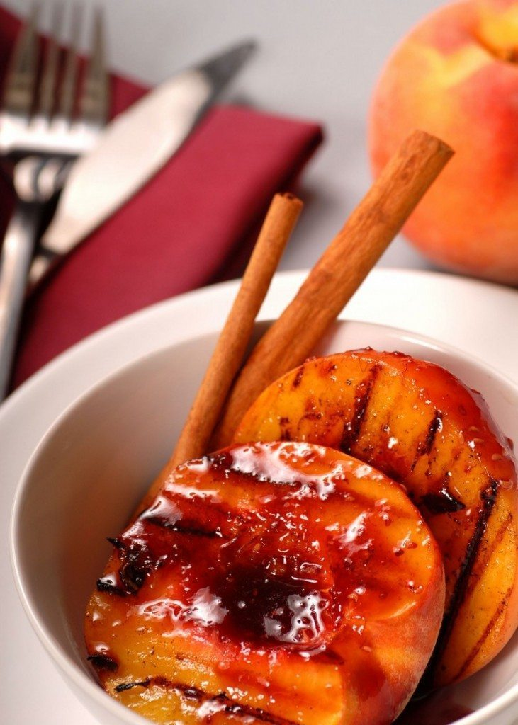 Cinnamon-Scented Grilled Peaches