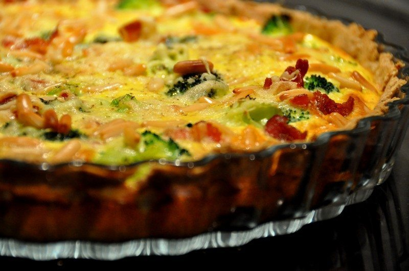 Rustic Cheese Tart with Bacon
