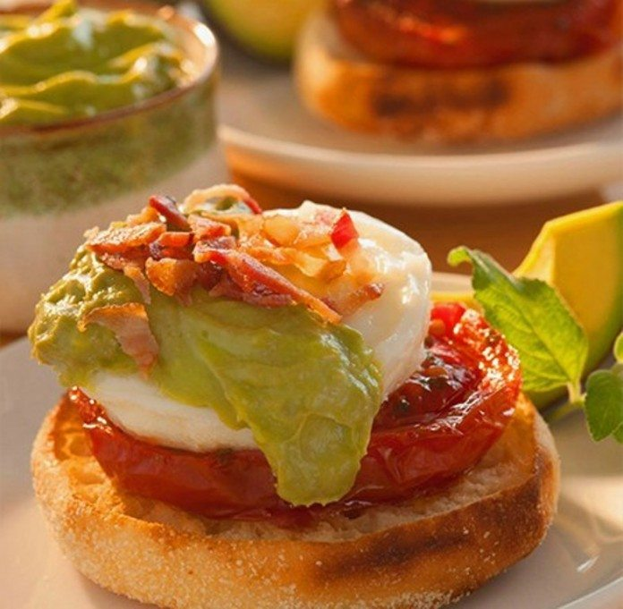 Eggs Benedict with Avocado Sauce