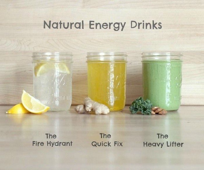 Healthy homemade energy drinks