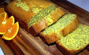 Fast and easy orange and poppy seed cake