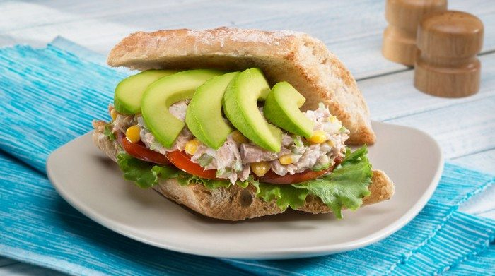 Avocado Tuna Salad Torta (Sandwich)