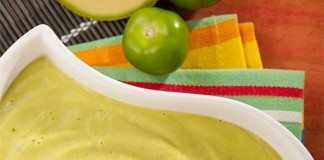 Chilled Avocado-Tomatillo Soup