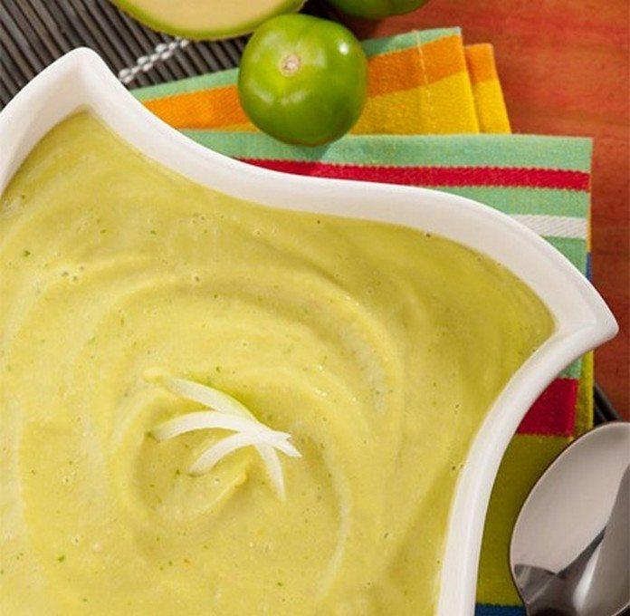 Chilled Avocado-Tomatillo Soup