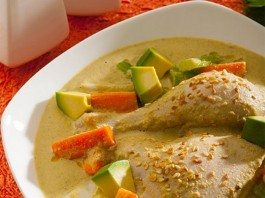 Poached Chicken Pistachio Sauce
