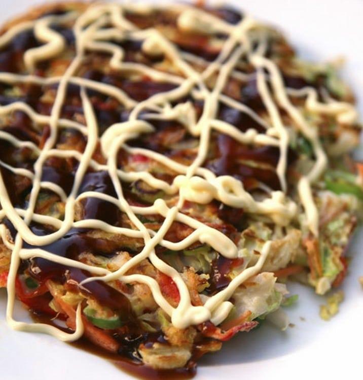 Mini okonomiyaki (Japanese pancakes)