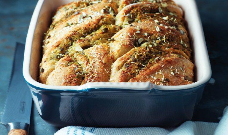 Pumpkin Seed Pesto Bread