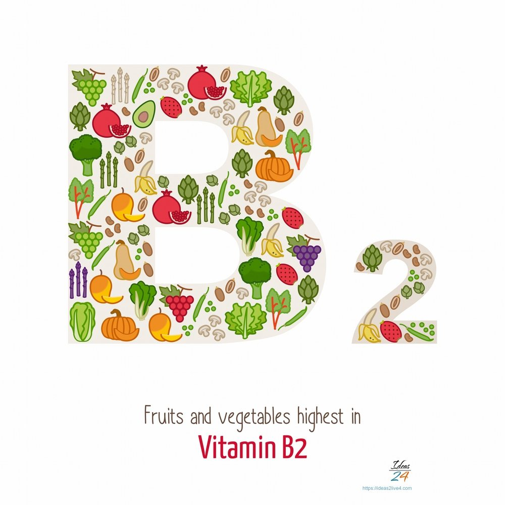 Fruits and vegetables highest in vitamin B2