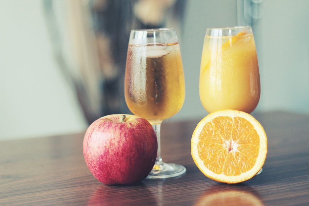Which of these juices is healthier. Trick question! The healthy bit is outside of the glass!