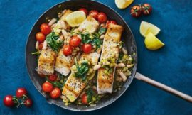 One-pan Fish with Beans and Tomatoes
