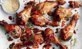 Slow Cooker Sticky Honey Soy Chicken Drumsticks