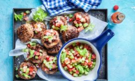 Super-Easy Rissoles with Crunchy Salsa
