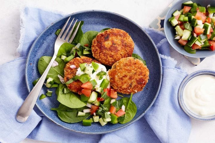 Sweet Potato Patties with Kachumber