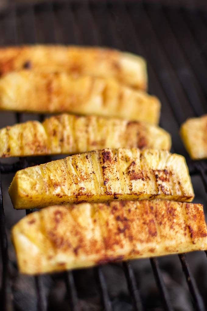 Vegan Grilled Sweet and Spicy Pineapple