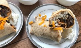Simple Black Bean and Barley Vegetarian Burritos