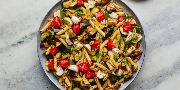 Grilled Ratatouille Pasta Salad