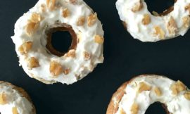 Banana Bread Doughnuts With Honeyed Yogurt Glaze