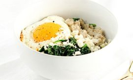 Savory Spinach and Feta Oatmeal Bowl