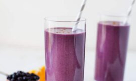 Wild Blueberry Cheesecake Smoothie