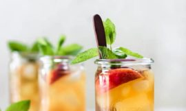 Peach Mint Iced Green Tea