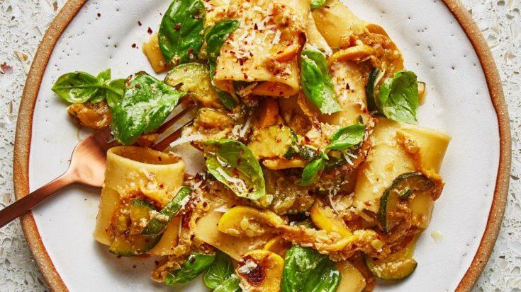 Summer Squash and Basil Pasta
