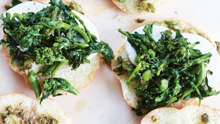 Pressed Broccoli Rabe and Mozzarella Sandwiches