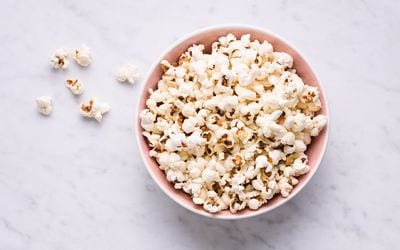 Low Sodium Garlic Parmesan Popcorn