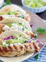 Skillet Chicken Tacos