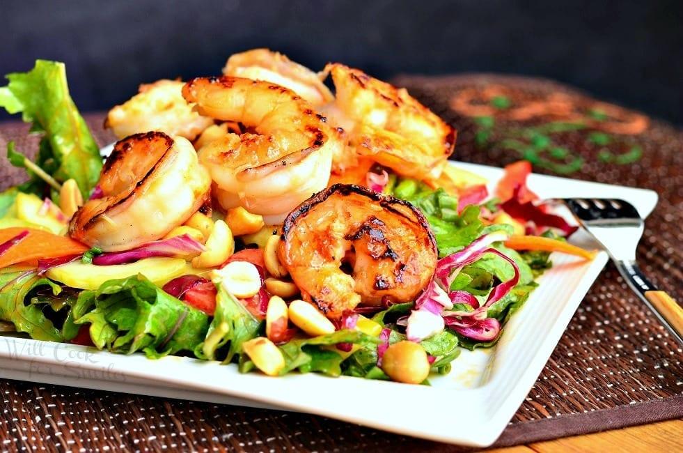 Shrimp Salad with Peanut Dressing