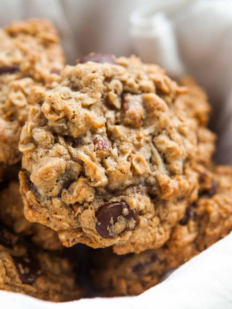 Chocolate Chunk and Walnut Oatmeal Cookies